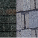 new and old roof