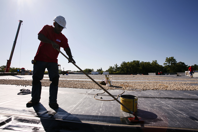 Lovely A Commercial Roof Is Categorized As A Low Slope Roof. Low Slope Roofs Also  Include Flat Roof Systems, Which Are Quite Common Among Commercial  Buildings.